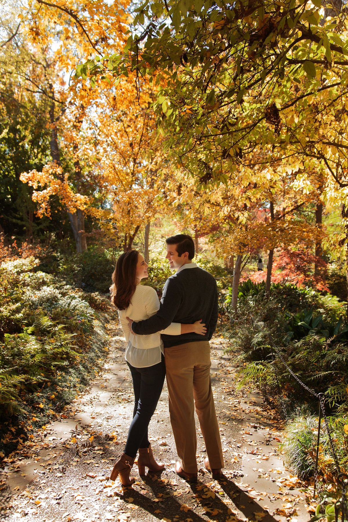 Dallas Arboretum Engagement Portrait